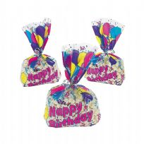 Birthday Balloon Cellophane Goody Bags (12)